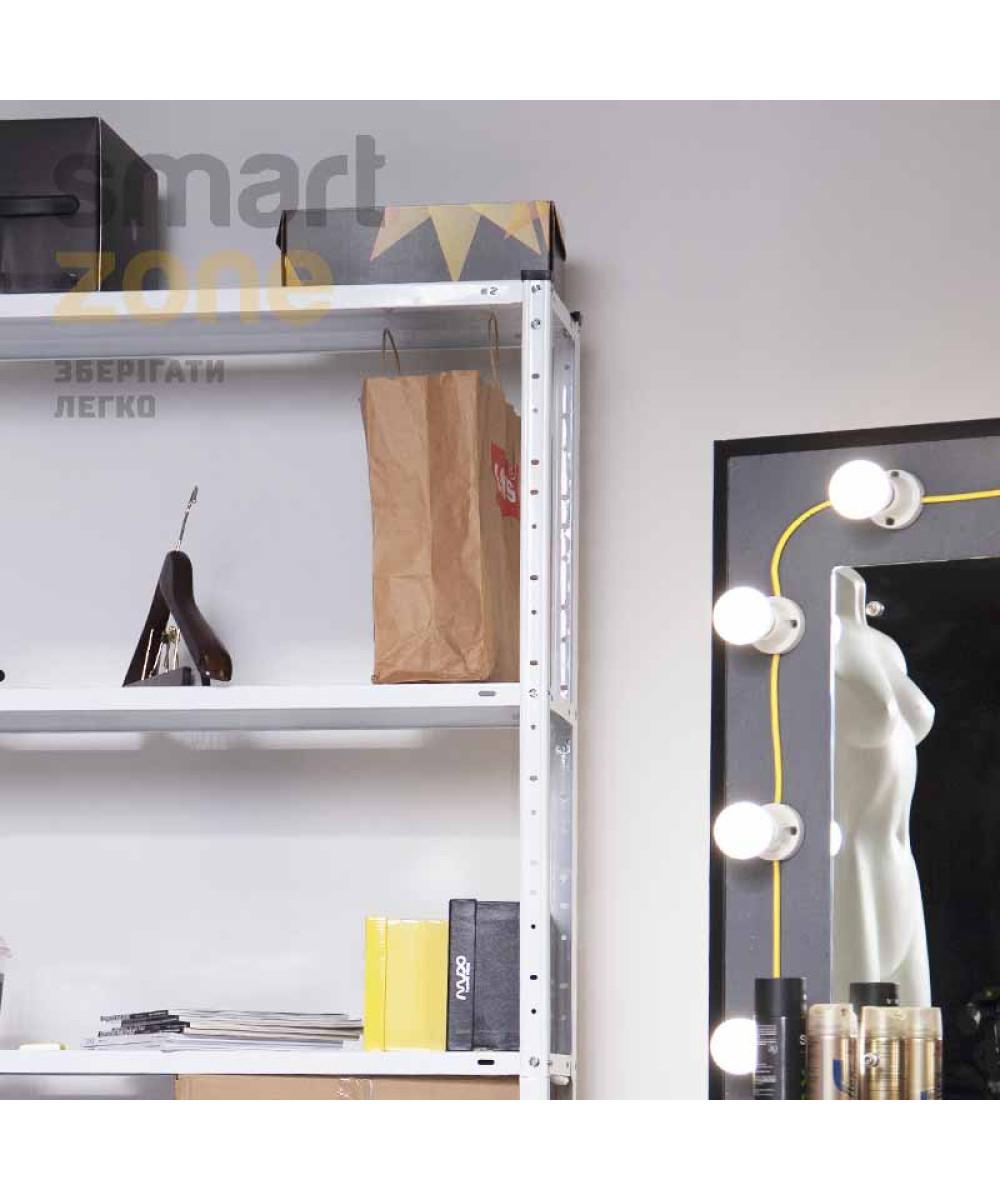 Стеллаж металлический Белый 5 полок РИОЛА-88 для гаража, магазина, дома - Фото 9